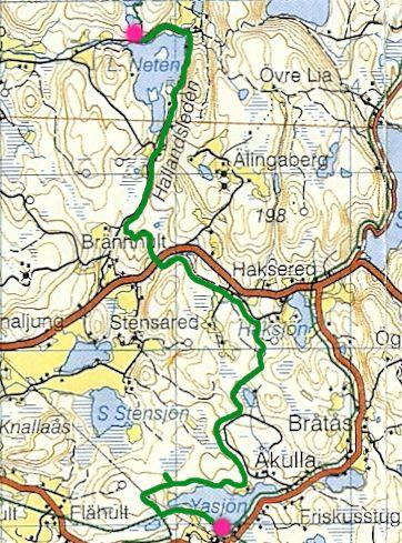 hallandsleden karta Vi går genom Halland   Håkan och Ingemar vandrar genom Halland i  hallandsleden karta